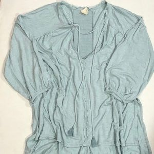 New Free People Tunic Blouse atop Sz M Fits L XL
